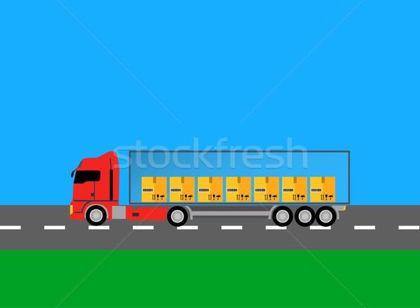 Lkw Lastwagen Symbol Design Stil Auto Stock foto © robuart