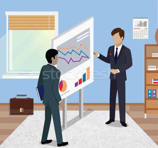 Stock photo: Business Report Isometric