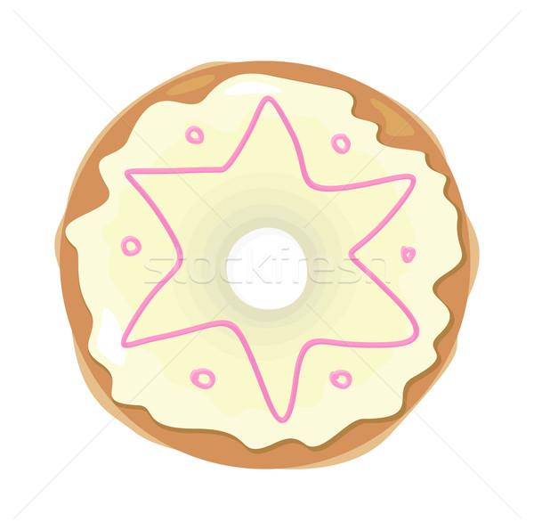 Sweet Donuts Set Design Flat Food Stock photo © robuart