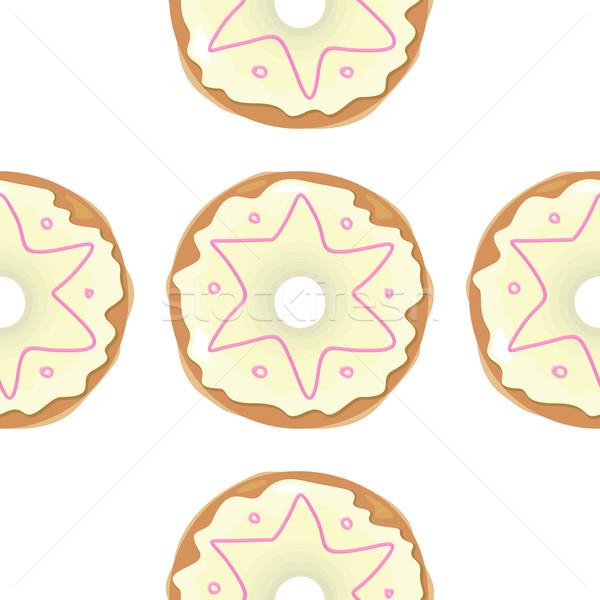 Ciambella senza soluzione di continuità texture pattern cute Foto d'archivio © robuart