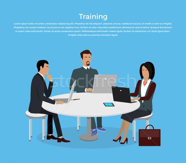 Szkolenia pracowników odprawa prezentacji spotkanie korporacyjnych Zdjęcia stock © robuart