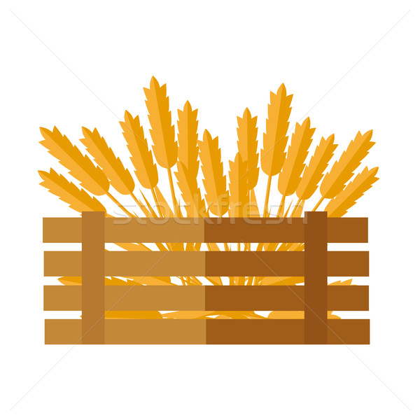 Wheat Concept Vector Illustration in Flat Design. Stock photo © robuart