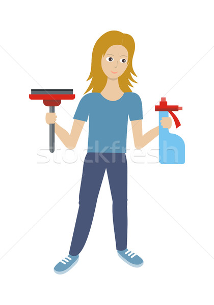 Stock photo: Cleaning Service Flat Style Vector Web Banner