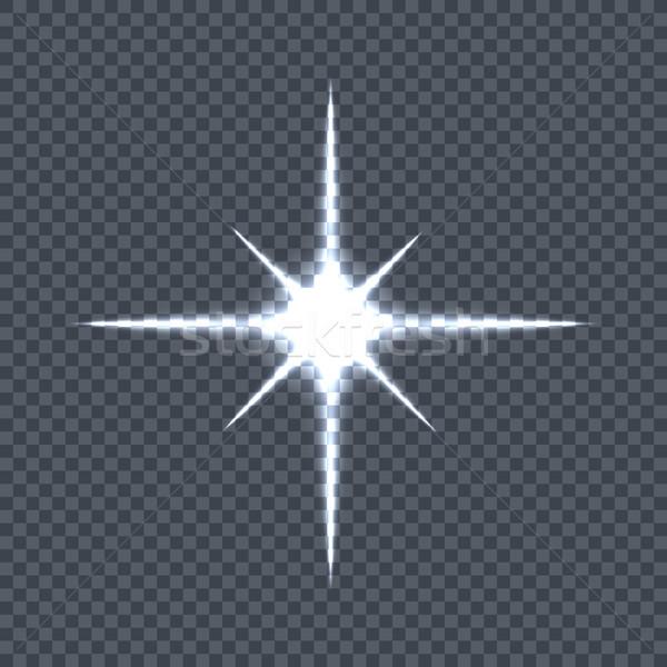 Сток-фото: звездой · свет · блеск
