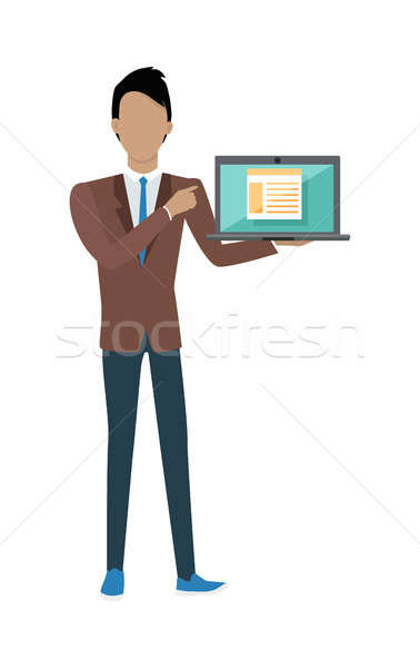 Man with Laptop Stock photo © robuart