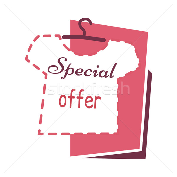 Stock photo: Special Offer. Sale on T shirts Banner. Buy Now