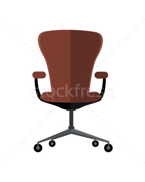 офисные кресла икона символ изолированный белый ретро Сток-фото © robuart