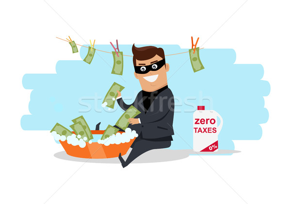 Money Laundering Concept Flat Design Vector Stock photo © robuart