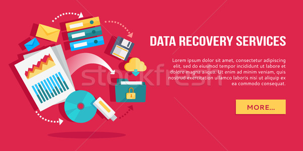 Data Recovery Services. Set of Concept Flat Icons Stock photo © robuart