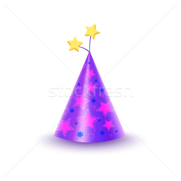 Paper Festive Cap With Stars Isolated Illustration Stock photo © robuart