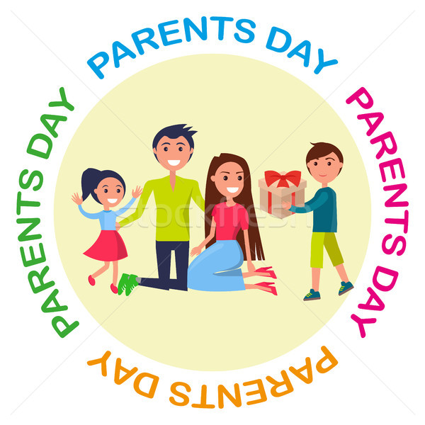Banner Dedicated to Parents Day Depicting Family Stock photo © robuart