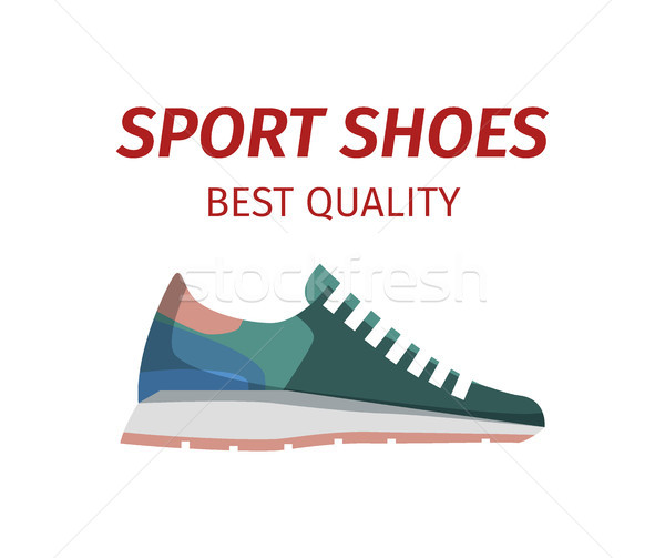 Sport Shoes Quality Sneakers Logo Icon Isolated Stock photo © robuart