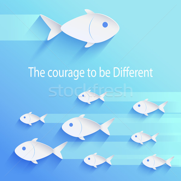 The Courage to Be Different Vector Illustration Stock photo © robuart