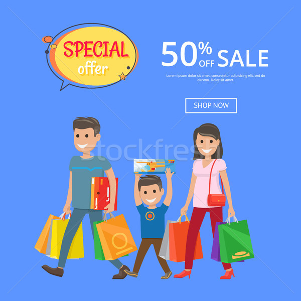 Stock photo: Special Offer Sale Advertisement Online Poster 50