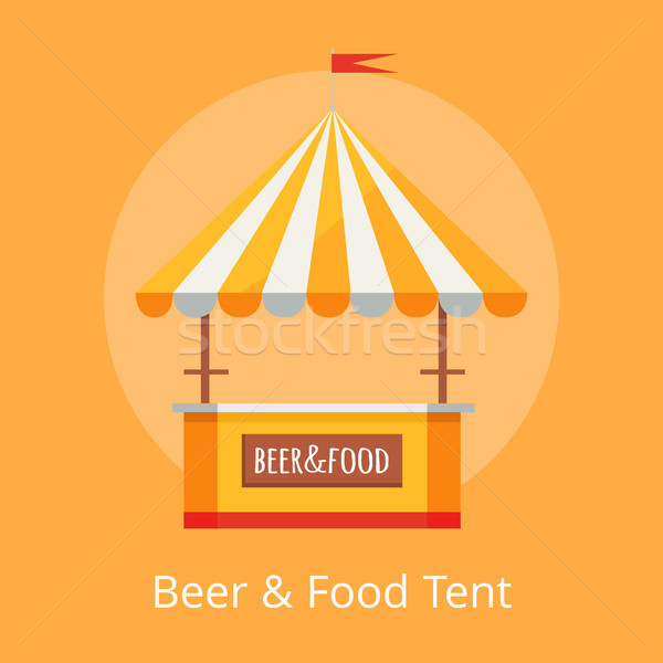 Beer and Food Festival Tent Vector Illustration Stock photo © robuart