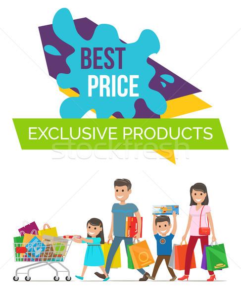 Melhor preço exclusivo cartaz produtos família Foto stock © robuart