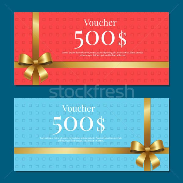 Vale 500 establecer carteles oro arco Foto stock © robuart