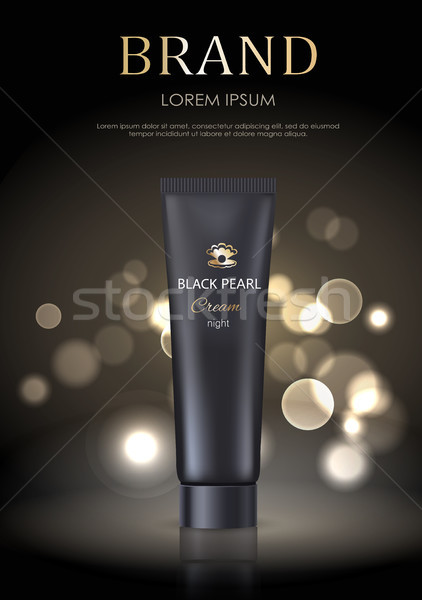Brand Name Poster Black Pearl Night Face Cream Stock photo © robuart