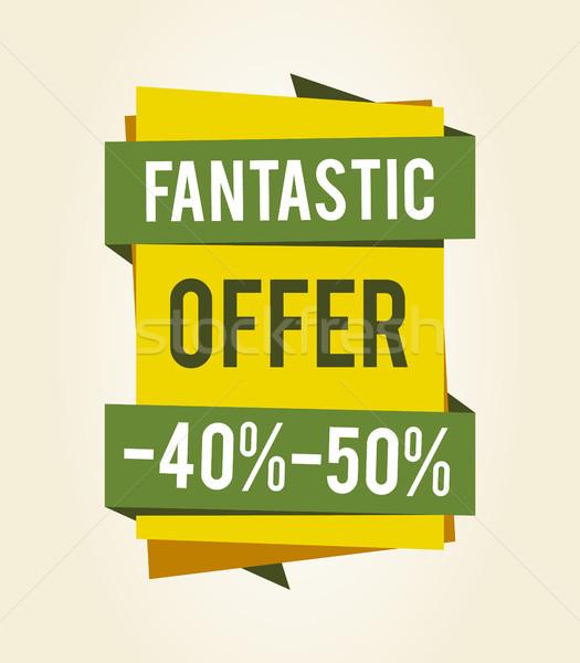 Fantasztikus ajánlat vásár kiárusítás százalék árengedmény Stock fotó © robuart