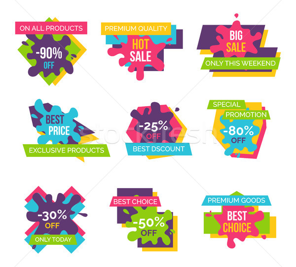 Set Price Labels Total Sale on All Products Icons Stock photo © robuart