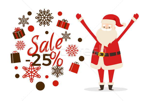 Winter Sale Clearance Poster Vector Illustration Stock photo © robuart