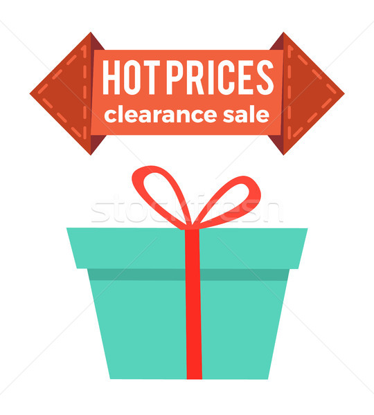 Hot Prices Clearance Sale Arrow Shape Label Box Stock photo © robuart