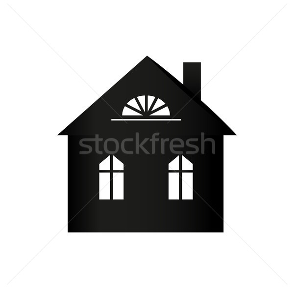 Buildings Silhouette Colorless Vector Illustration Stock photo © robuart
