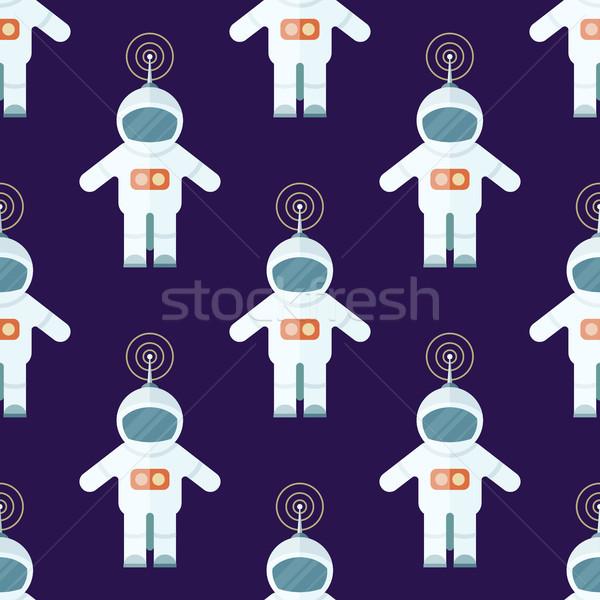 Kosmonaut suits geïsoleerd Blauw Stockfoto © robuart