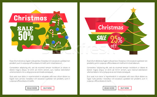 Christmas Sale 55 Off Card Vector Illustration Stock photo © robuart