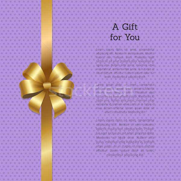 Gift Your Shopping Certificate Decorated Gold Bow Stock photo © robuart