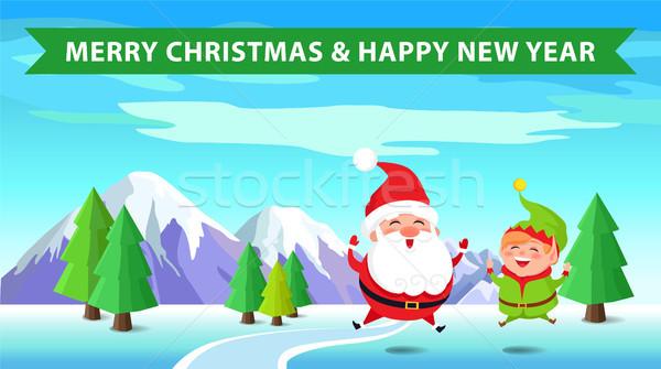 Сток-фото: веселый · Рождества · эльф · с · Новым · годом