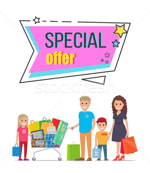 Special Offer for Big Family Shopping Promotion Stock photo © robuart