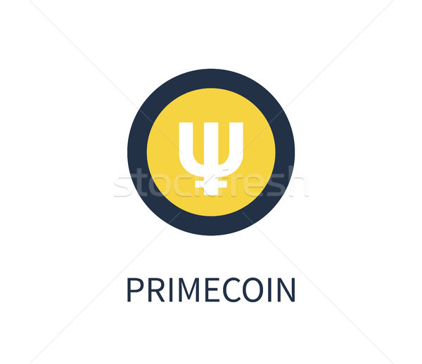 Stock photo: Primecoin Cryptocurrency Icon Vector Illustration