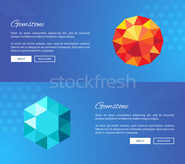 Gemstone Crystals and Minerals Web Design Vector Stock photo © robuart