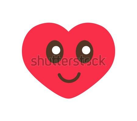 Princesa festa coração sorrir cartaz vermelho Foto stock © robuart