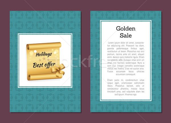 Gouden verkoop vakantie bieden korting bon Stockfoto © robuart