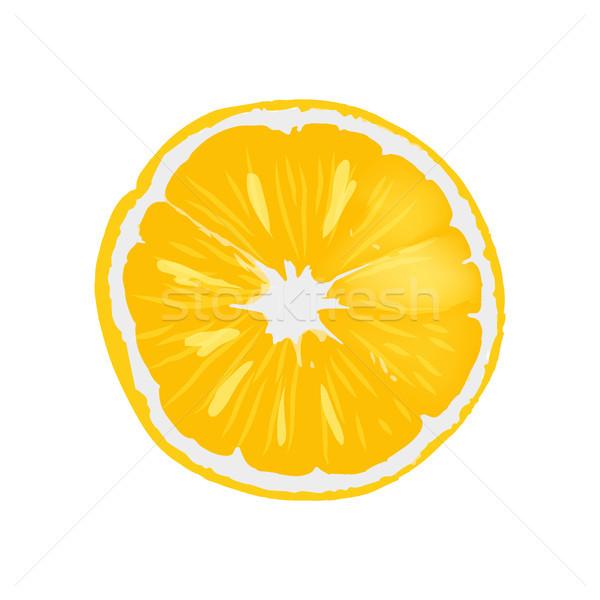 Fresh Ripe Orange Juicy Round Slice Illustration Stock photo © robuart