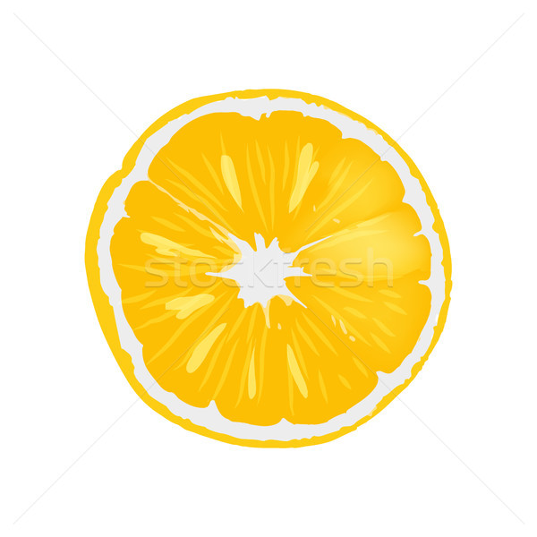 Frescos maduro naranja jugoso rebanada ilustración Foto stock © robuart