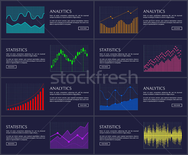 Statistics Visual Presentation Vector Illustration Stock photo © robuart