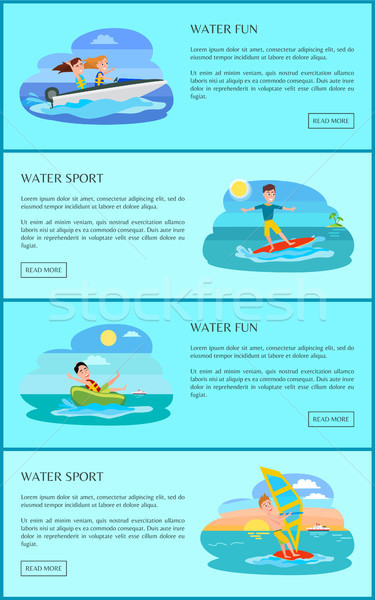 Water Fun Activity Collection Vector Illustration Stock photo © robuart