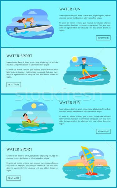 Water leuk activiteit collectie activiteiten Stockfoto © robuart