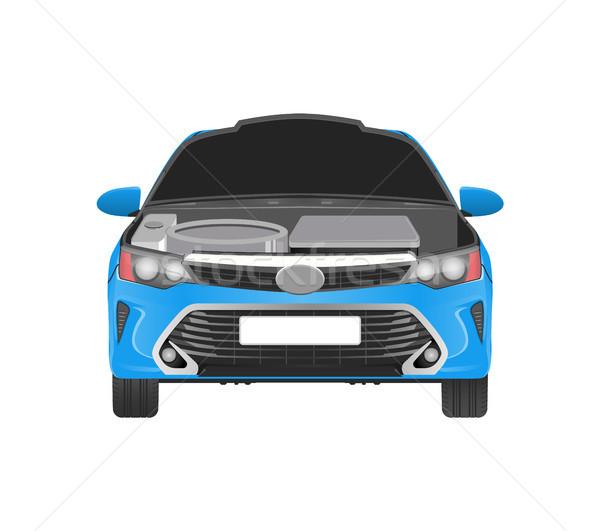 Car with Open Hood and Parts That Need Replacement Stock photo © robuart