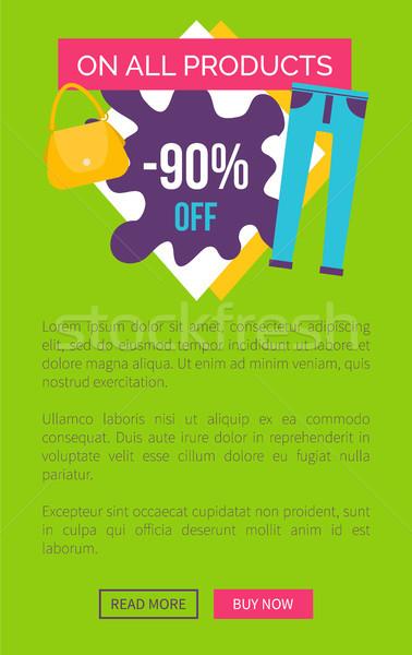 продукции продажи плакат рекламный Label Сток-фото © robuart