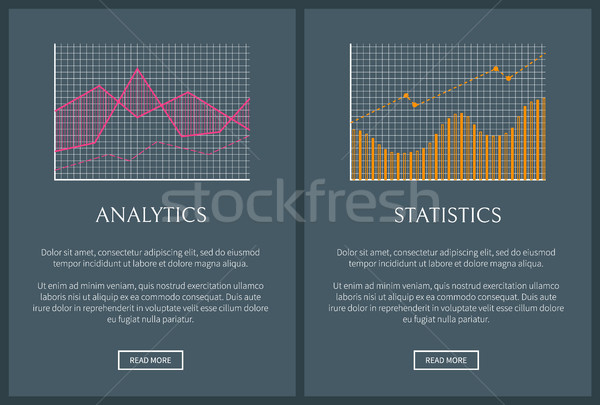 Analytics and Statistics Web Vector Illustration Stock photo © robuart
