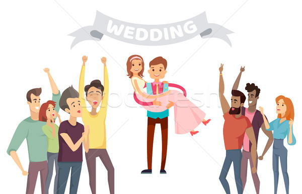 Wedding Party Banner Abstract Vector Illustration Stock photo © robuart