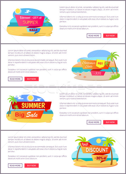 Big Summer Sale Up to 30 Internet Promo Pages Stock photo © robuart