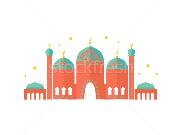 Colorful Pattern of Beautiful Temple, Vector Card Stock photo © robuart