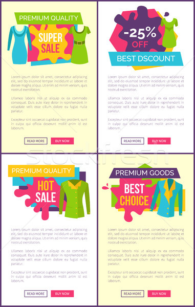 Hot Sale on Products of Premium Quality Clothes Stock photo © robuart