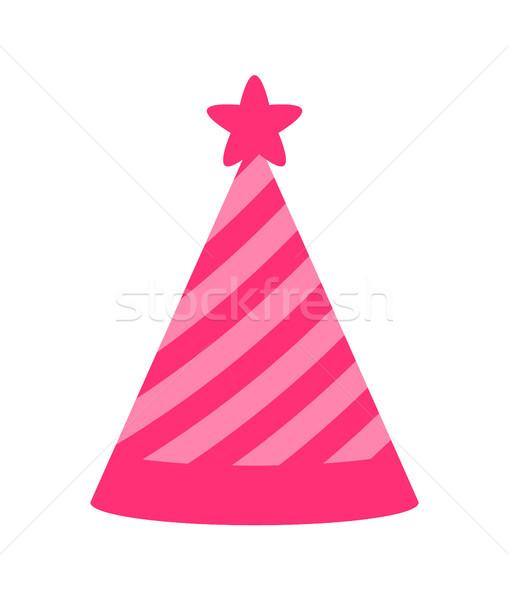 Hercegnő buli rózsaszín sapka szín plakát Stock fotó © robuart
