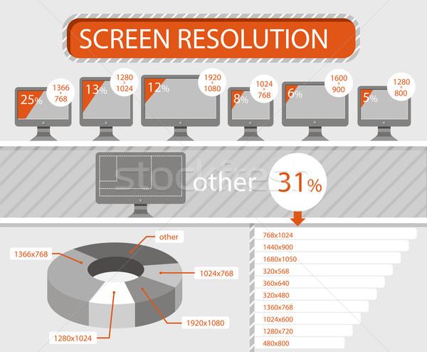 Infografía LCD Screen gráfico de barras Foto stock © robuart